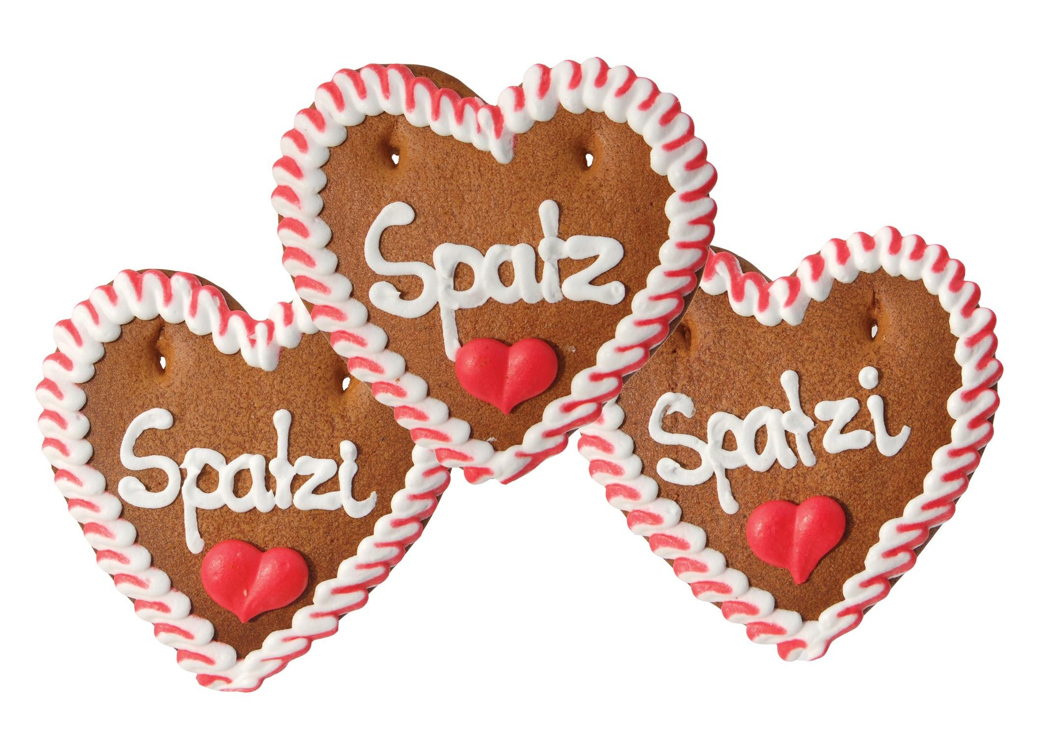 Lebkuchenherz Spatz/Spatzi
