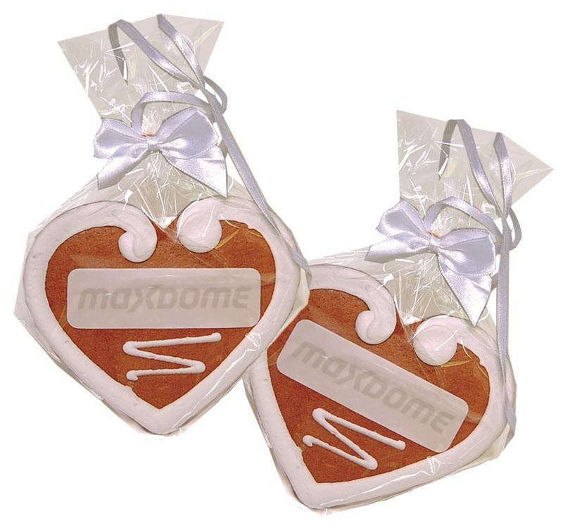 Lebkuchenherz mit Logo - 12x12 cm