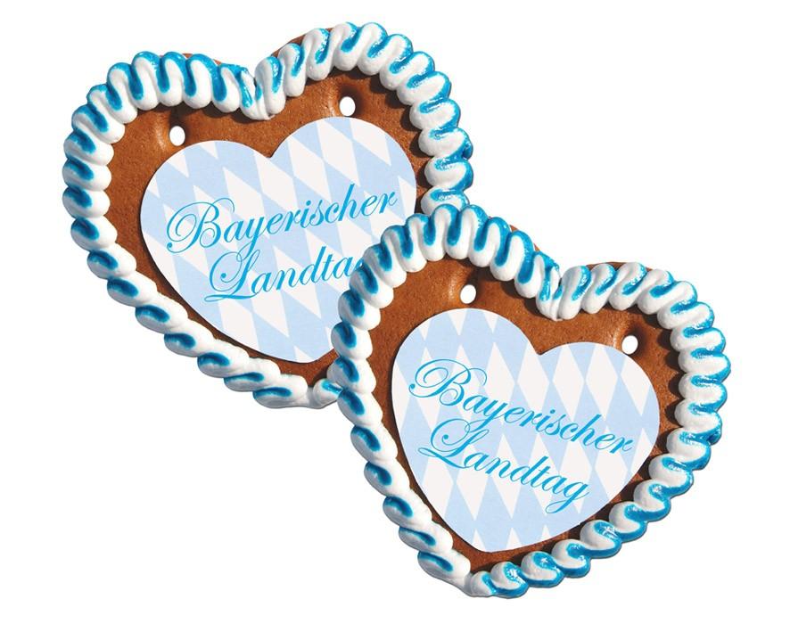 Lebkuchenherz mit Papierauflger in Herzform 10 x 10cm