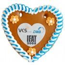 Lebkuchenherz mit Logo in Herzform 16x15 cm