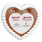 Lebkuchenherz 14x13 cm mit Herz-Papieraufleger