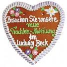 XXL-Lebkuchenherz mit Wunschtext - 46x44 cm